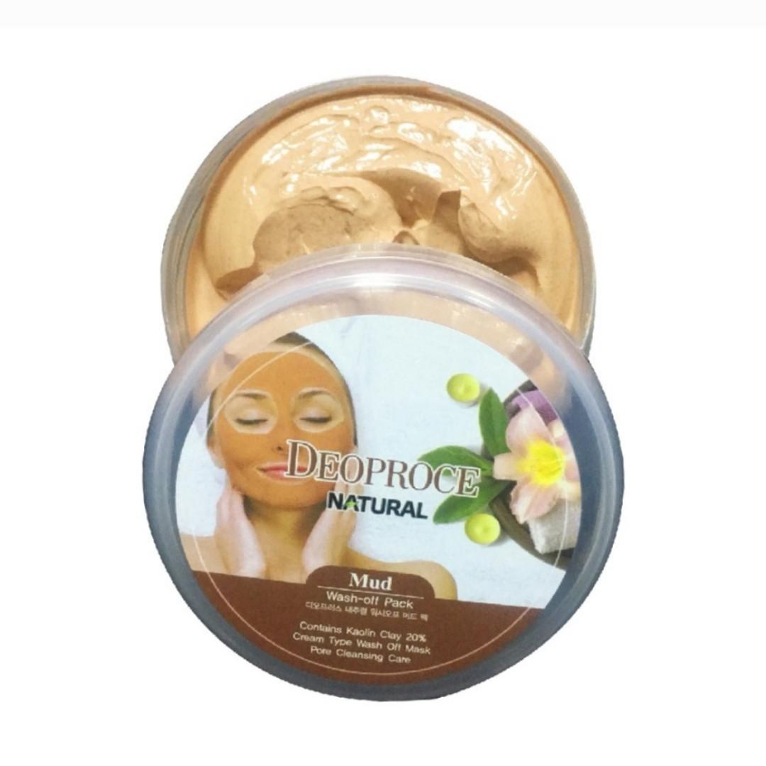 "Очищающая глиняная маска Deoproce ""Mud Wash-off Pack"" Kaolin Clay 20% 100 г."
