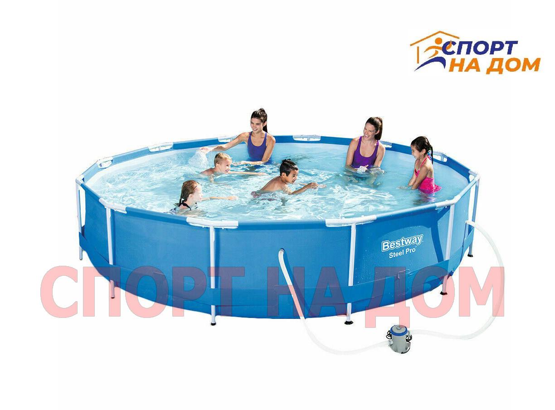 Круглый каркасный бассейн Bestway 56416 (366 х 76 см, на 6473 литра )