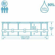 Круглый каркасный бассейн Bestway 56416 (366 х 76 см, на 6473 литра ), фото 3