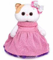 Мягкая игрушка кошка Ли-Ли в платье с люрексом 24 см