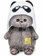 Мягкая игрушка кот Басик Baby в шапке - панда
