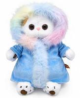 Мягкая игрушка кошка Ли-Ли в шубке с радужным мехом 24 см