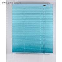 Штора-плиссе, размер 80х160 см, цвет голубой