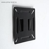 """Кронштейн LuazON KrON-66, для ТВ, фиксированный, 10-26"""", 10 мм от стены, чёрный"""