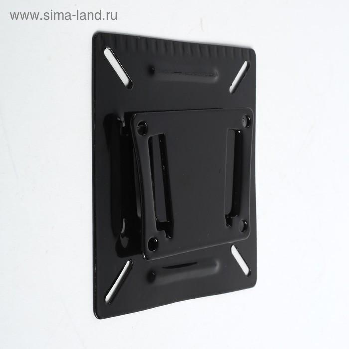 """Кронштейн LuazON KrON-66, для ТВ, фиксированный, 10-26"""", 10 мм от стены, чёрный - фото 2"""