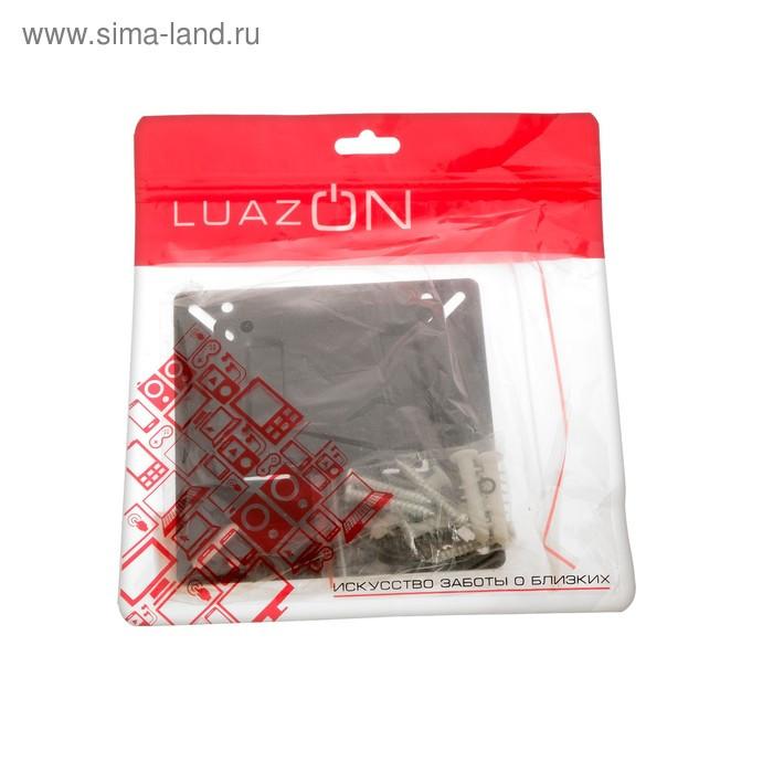"""Кронштейн LuazON KrON-66, для ТВ, фиксированный, 10-26"""", 10 мм от стены, чёрный - фото 6"""