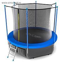 Батут EVO JUMP Internal, d=305 см, с териленовой сеткой и лестницей + нижняя сеть, цвет синий
