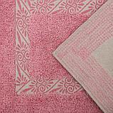 Набор ковриков для ванны и туалета Доляна «Вензель», 2 шт: 40×40, 40×60 см, 900 г/м2, 100% хлопок, цвет, фото 3