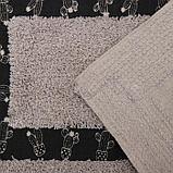 Набор ковриков для ванны и туалета Доляна «Кактус», 2 шт: 40×40, 40×6 см0, 900 г/м2, 100% хлопок, цвет бежевый, фото 3