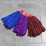 Насадка для швабры ленточная Доляна, микрофибра 200 гр, цвет МИКС, фото 6
