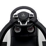 Толокар Mercedes-Benz AMG GLE, родительская ручка, звук, цвет белый, фото 8