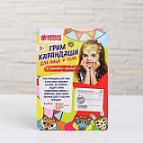 Грим-карандаши и блёстки для лица и тела: 6 неоновых цветов + аппликатор, фото 2