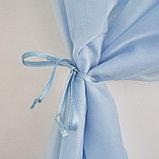 Комплект штор для кухни Византия 280х160 голубой правая, пэ 100%, фото 2