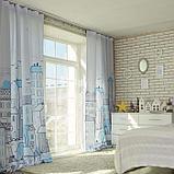 """Комплект штор """"Этель"""" Sweet home blue 145*260 см-2 шт, 100% п/э, 140 г/м2, фото 2"""