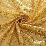Скатерть с пайетками, цв.золото, 180*180 см, фото 4