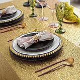 Скатерть с пайетками, цв.золото, 200*200 см, фото 3