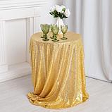 Скатерть с пайетками, цв.золото, 300*300 см, фото 2