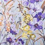 """Штора портьерная Этель """"Акварель"""" цв.фиолетовый, 145*265 см, пл. 210 г/м2, 100 п/э, фото 3"""
