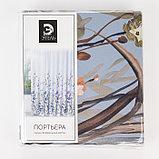 """Штора портьерная Этель """"Акварель"""" цв.фиолетовый, 145*265 см, пл. 210 г/м2, 100 п/э, фото 5"""