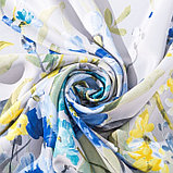 """Штора портьерная Этель """"Акварель"""" цв.синий, 145*265см, пл. 210 г/м2, 100 п/э, фото 2"""