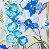 """Штора портьерная Этель """"Акварель"""" цв.синий, 145*265см, пл. 210 г/м2, 100 п/э, фото 3"""