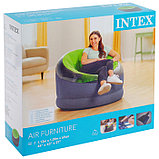 Кресло надувное, 112 х 109 х 69 см, цвета МИКС, 68582NP INTEX, фото 4