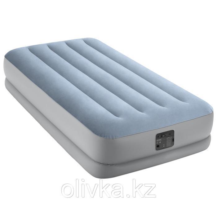 Кровать надувная Raised Comfort, 99 х 191 х 36 см, встроенный насос, 220 В, до 136 кг, 64166NP INTEX