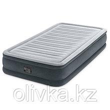 Кровать надувная Comfort-Plush Twin, 99 х 191 х 33 см, с встроенным насосом 220V, 67766 INTEX