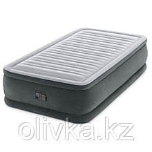 Кровать надувная Comfort-Plush Twin, 99 х 191 х 46 см, с встроенным насосом 220V, 64412 INTEX