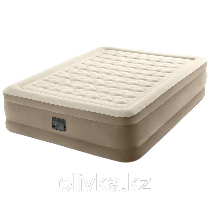Кровать надувная Ultra Plush Bed, 152 х 203 х 46 см, встроенный насос, 220 В, 64428NP INTEX