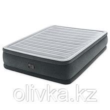Кровать надувная Comfort-Plush Queen, 152 х 203 х 46 см, с встроенным насосом 220V, 64414 INTEX