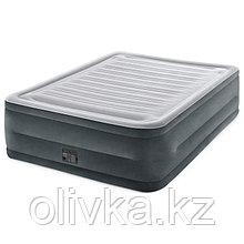 Кровать надувная Comfort-Plush Queen, 152 х 203 х 56 см, с встроенным насосом, 220V 64418 INTEX