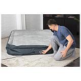 Кровать надувная Fortech, 203 x 152 x 46 см, со встроенным электронасосом, 69075 Bestway, фото 4