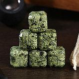 Набор камней для виски, 6 шт, 2х2х2 см, змеевик, фото 2