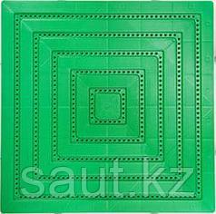 Модульные полимерные плиты, зеленый