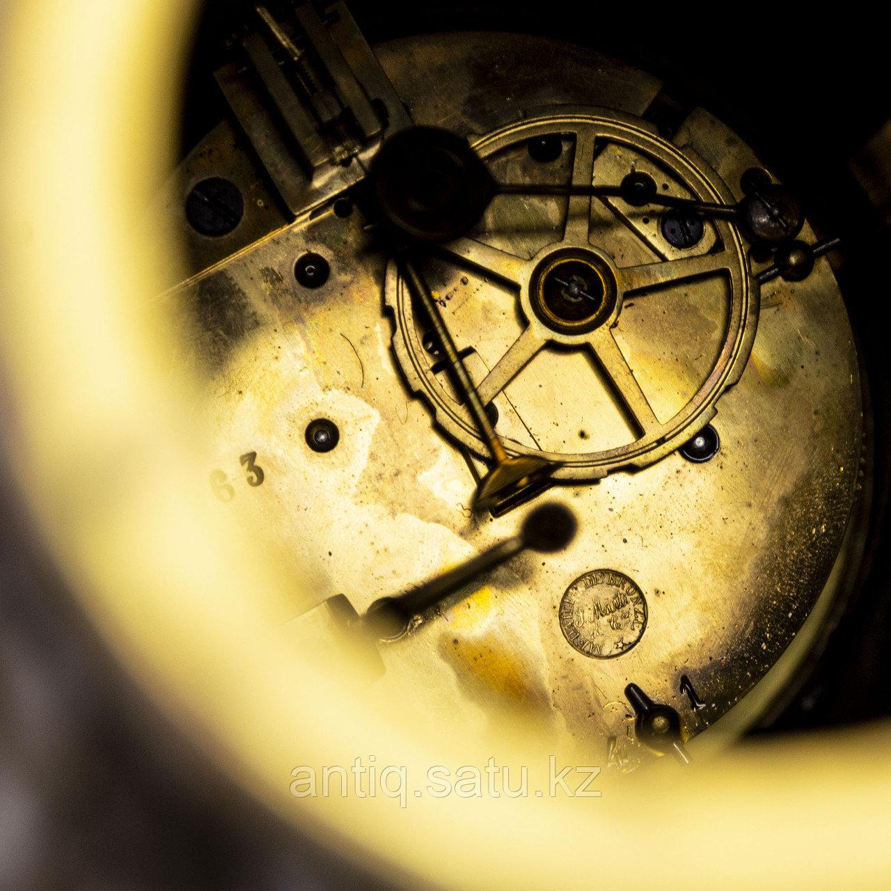 Часы в стиле Наполеона III. Скульптор Hippolyte Moreau Часовая мастерская S. Marti & Cie - фото 8
