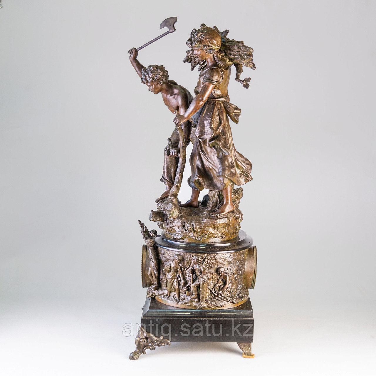 Часы в стиле Наполеона III. Скульптор Hippolyte Moreau Часовая мастерская S. Marti & Cie - фото 2