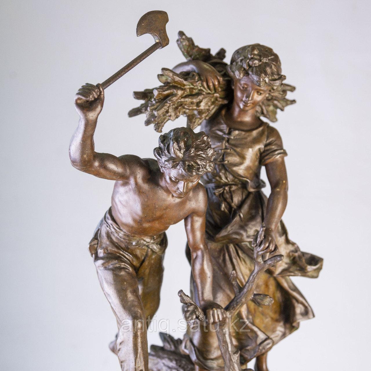 Часы в стиле Наполеона III. Скульптор Hippolyte Moreau Часовая мастерская S. Marti & Cie - фото 4