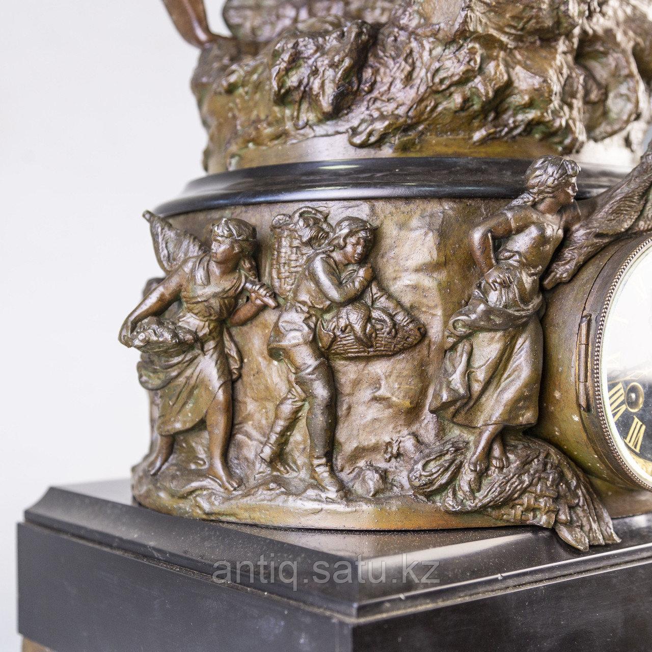 Часы в стиле Наполеона III. Скульптор Hippolyte Moreau Часовая мастерская S. Marti & Cie - фото 5