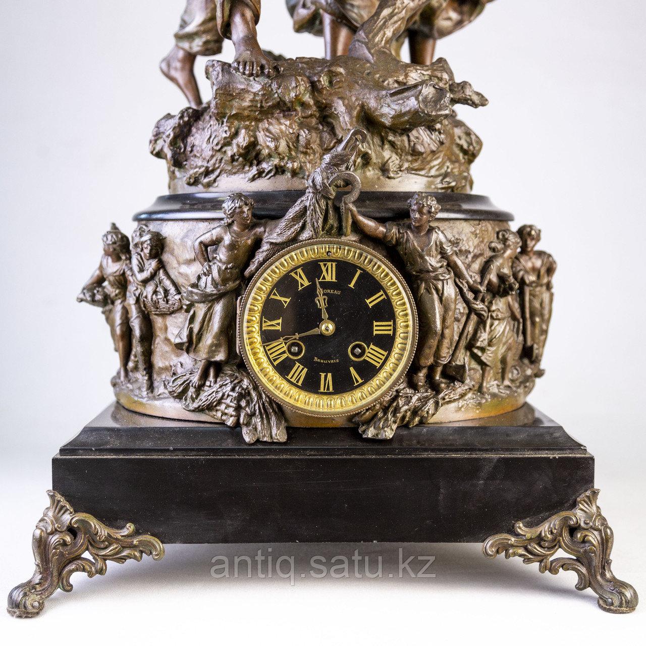 Часы в стиле Наполеона III. Скульптор Hippolyte Moreau Часовая мастерская S. Marti & Cie - фото 6