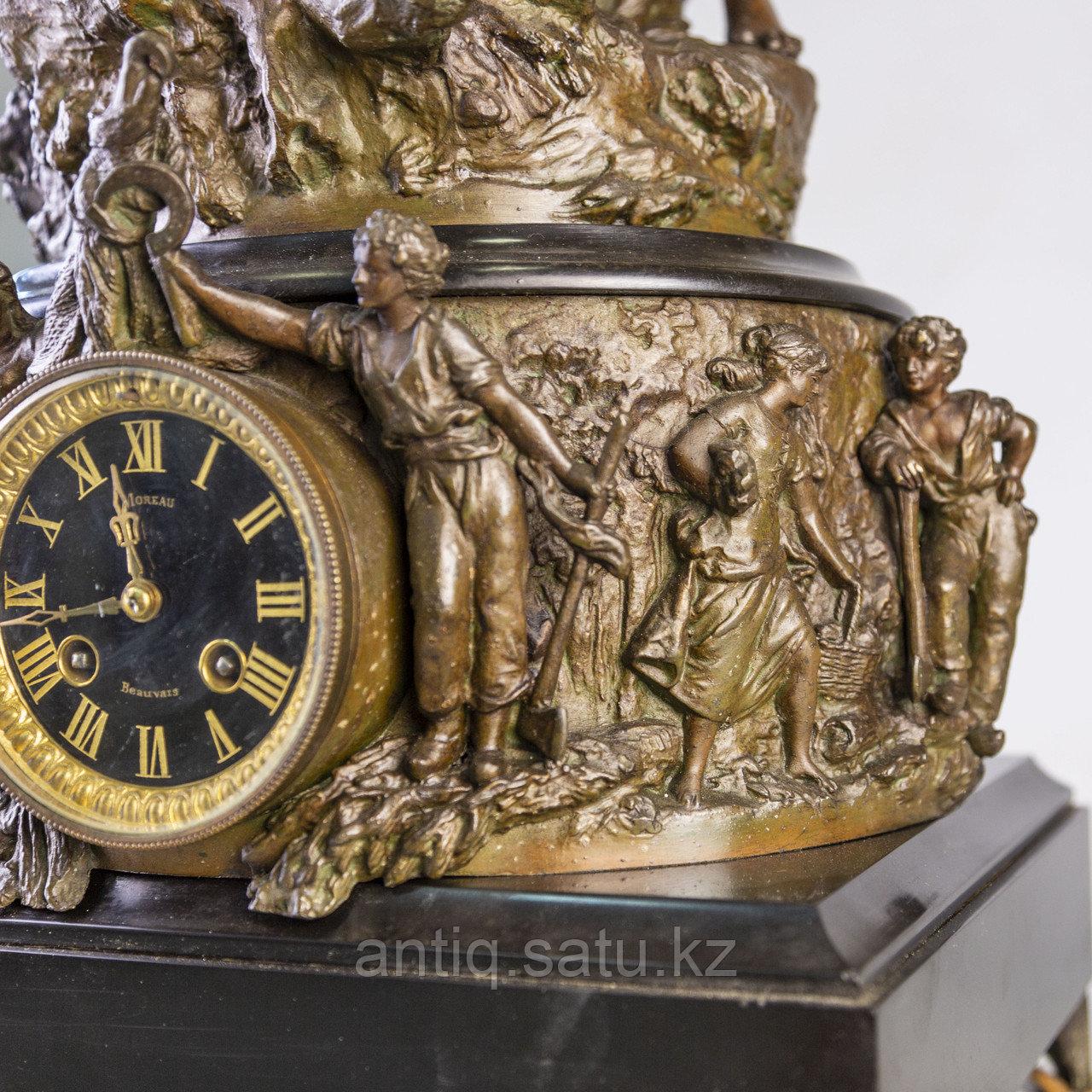 Часы в стиле Наполеона III. Скульптор Hippolyte Moreau Часовая мастерская S. Marti & Cie - фото 7