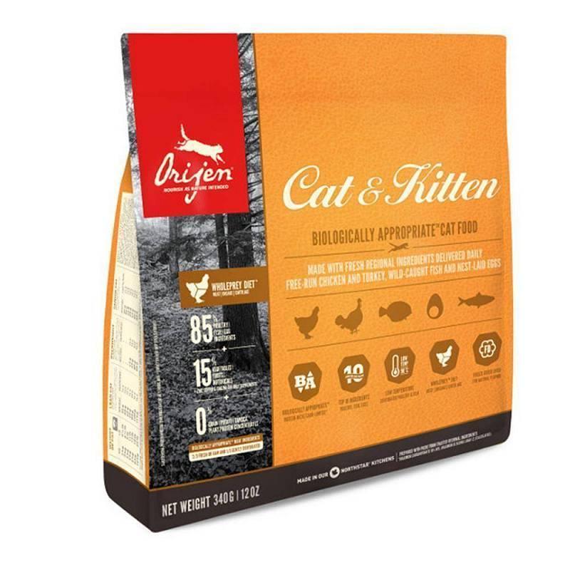 Сухой корм для кошек и котят Orijen (Ориджен), с цыплёнком, 340 гр
