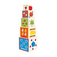 Деревянный игрушка пирамида Hape E0413