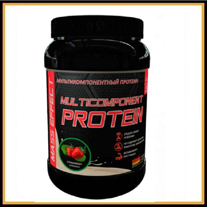 MASS EFFECT Мультикомпонентный протеин (клубника) 900гр
