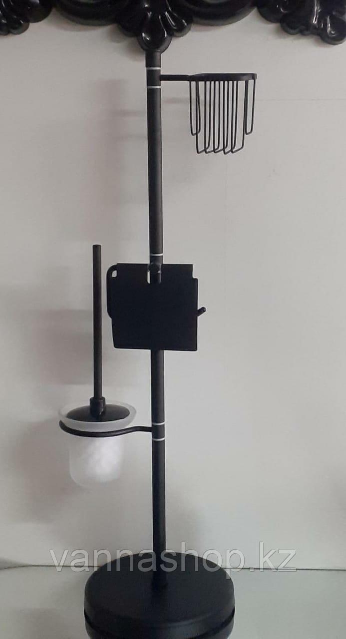 Набор в туалет три в одном чёрном цвете