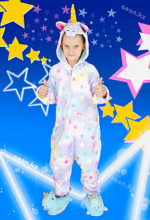 Кигуруми Звездный единорог (застежка молния) детский