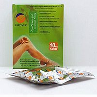 """Detox оздоровительно-профилактические пластыри на стопы марки """" Happiness"""" выведение шлаков и токсинов 10 шт"""
