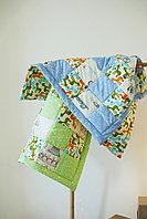 Одеяло детское в технике пэчворк 1 размер 100*100 ручная работа