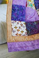 Одеяло детское в технике пэчворк 3 размер 100*120 ручная работа