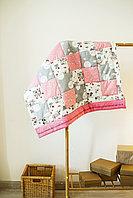 Одеяло детское в технике пэчворк 2 размер 100*120 ручная работа